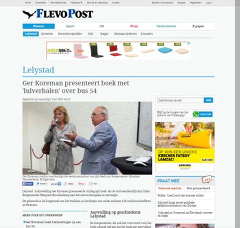 GER KOREMAN | Als de Oostvaardersdijk kon lullen