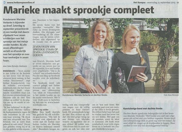 Marieke Verkerke in Het Kompas