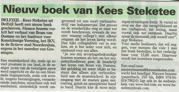 Auteur Kees Steketee | nieuwe bezems
