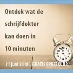 ACTIE| gratis spreekuur schrijfdokter Marja van Rossum