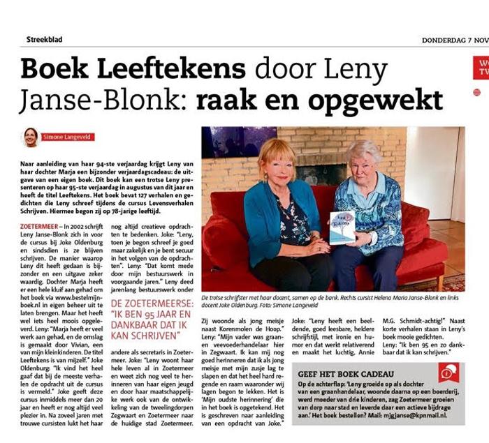 LEEFTEKENS | Leny Janse-Blonk