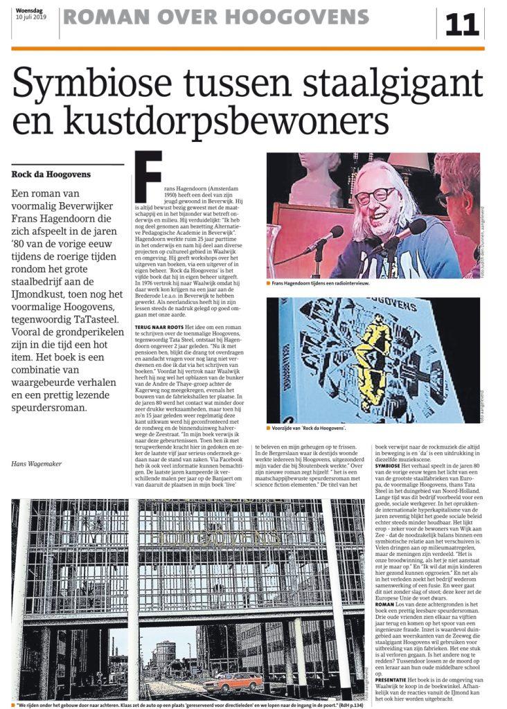 IN DE KRANT | Frans Hagendoorn